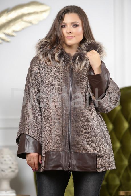 Купить Замшевая куртка с капюшоном больших размеров в Москве и Санкт-Петербурге