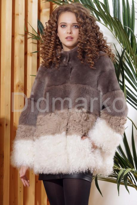 Купить Итальянское полупальто из меха овчины и ламы в Москве и Санкт-Петербурге