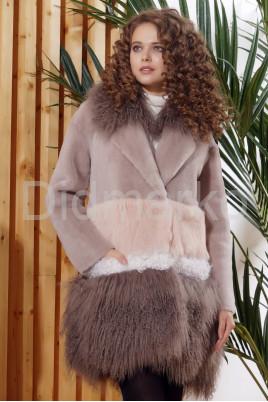 Итальянское пальто из овчины и ламы