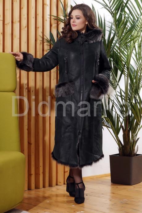 Зимняя женская дубленка с мехом тоскана