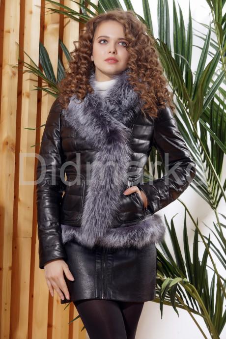Купить Зимняя кожаная куртка с мехом чернобурки в Москве и Санкт-Петербурге