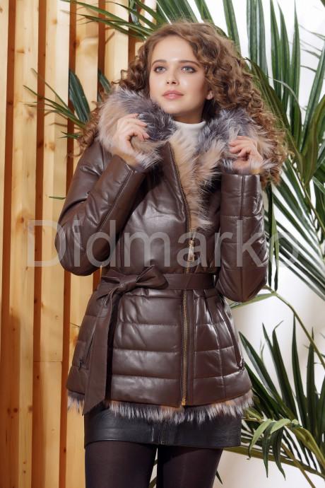 Купить Теплая кожаная куртка DMA82079 в Москве и Санкт-Петербурге