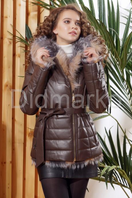 Теплая кожаная куртка DMA82079
