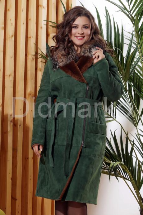 Купить Дубленка модного зеленого цвета  в Москве и Санкт-Петербурге