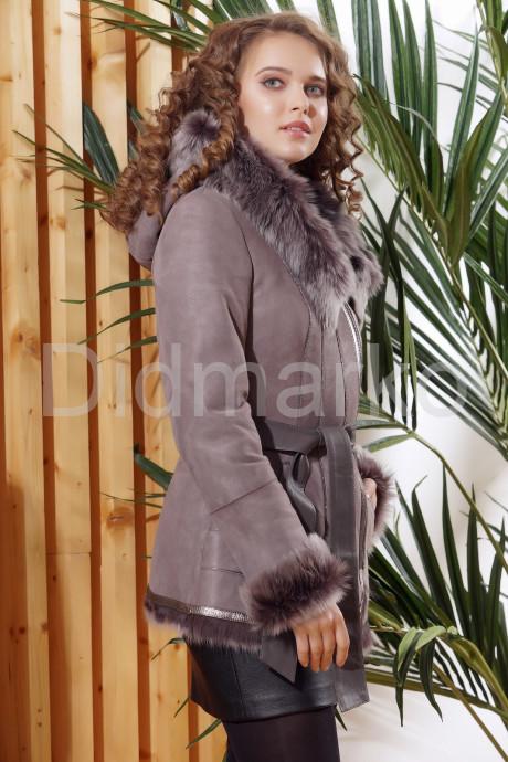 Зимняя дубленка с не стриженным мехом тоскана