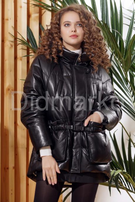 Купить Зимняя кожаная куртка  с капюшоном в Москве и Санкт-Петербурге