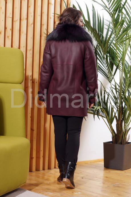 Модная дубленка косуха с мехом лисы