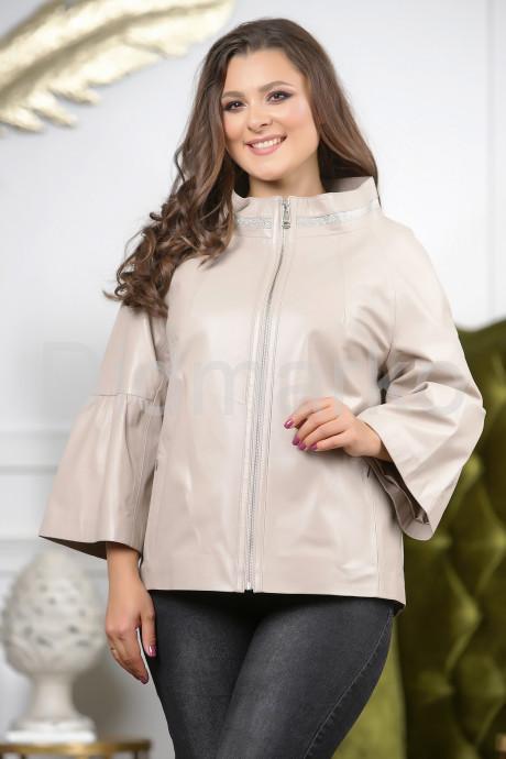 Купить Бежевая кожаная куртка для женщин 2021 в Москве и Санкт-Петербурге