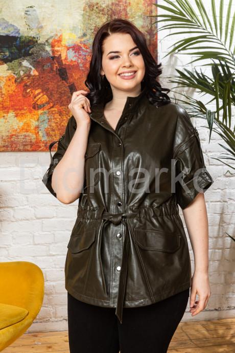 Купить Весенняя кожаная женская куртка в стиле сафари в Москве и Санкт-Петербурге