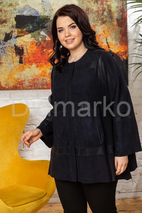 Комбинированная кожаная женская куртка свободного кроя IREN