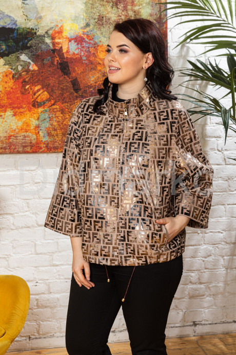 Кожаная женская куртка в стиле FENDI