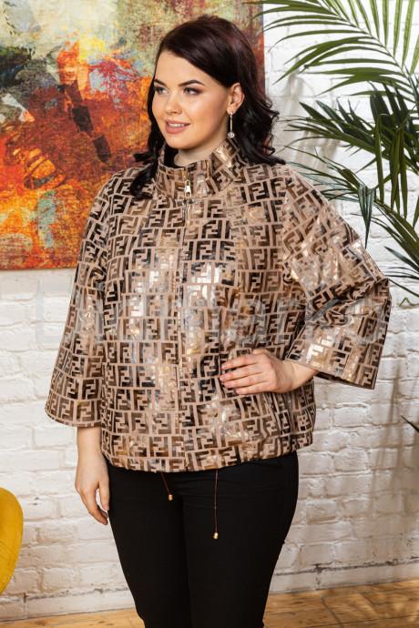 Купить Кожаная женская куртка в стиле FENDI в Москве и Санкт-Петербурге