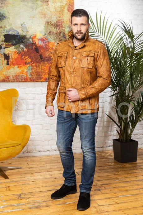 Мужской кожаный пиджак Весна 2021