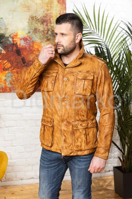 Купить Мужской кожаный пиджак Весна 2021 в Москве и Санкт-Петербурге