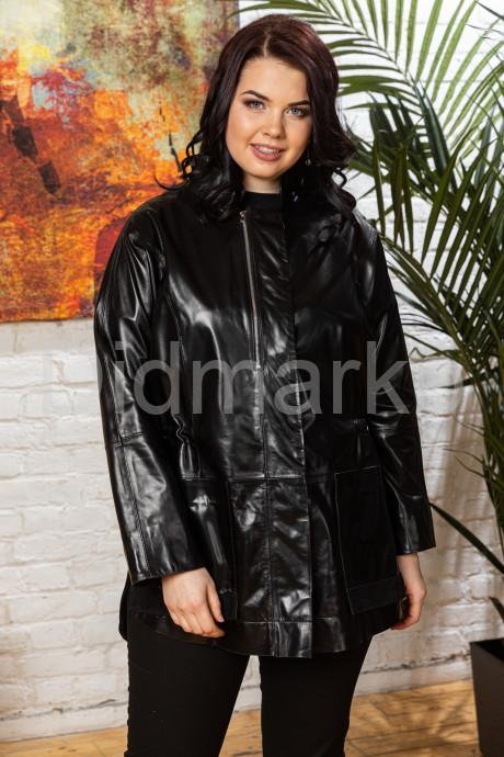 Комбинированная кожаная женская куртка для милых дам