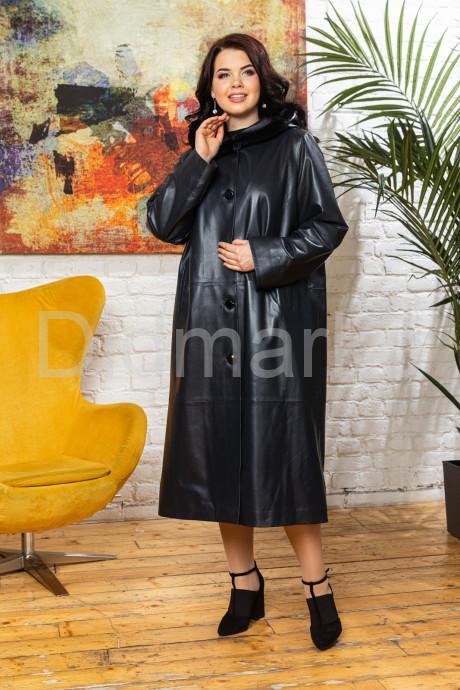 Купить Кожаное женское пальто с капюшоном livion в Москве и Санкт-Петербурге