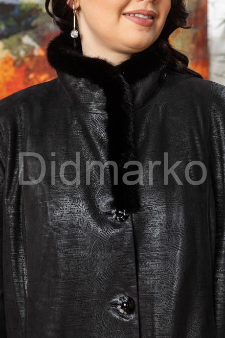 Кожаное пальто больших размеров ALEXSANDRA