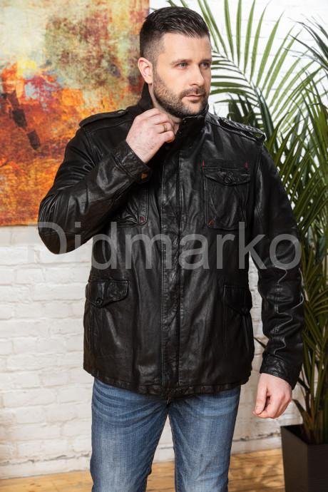 Купить Мужская кожаная куртка в стиле милитари 2021 в Москве и Санкт-Петербурге