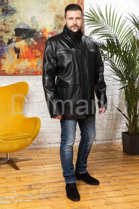Удлиненная кожаная куртка для мужчин