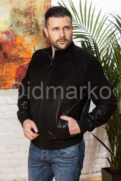 Купить Мужская замшевая куртка на резинке в Москве и Санкт-Петербурге