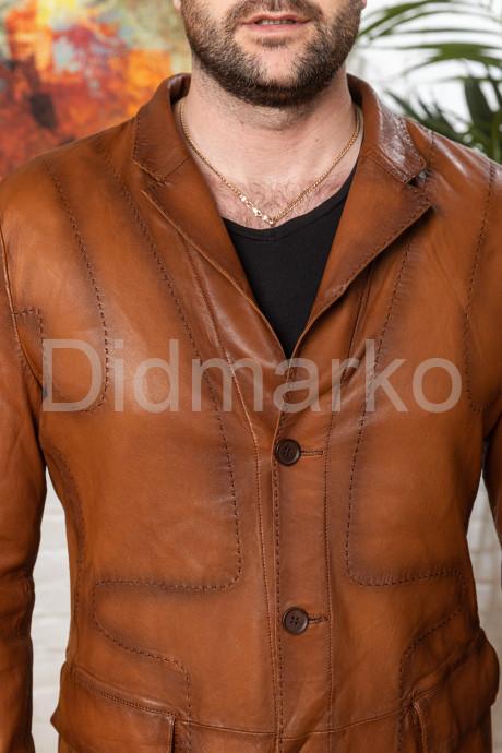 Облегченный мужской кожаный жакет для мужчин
