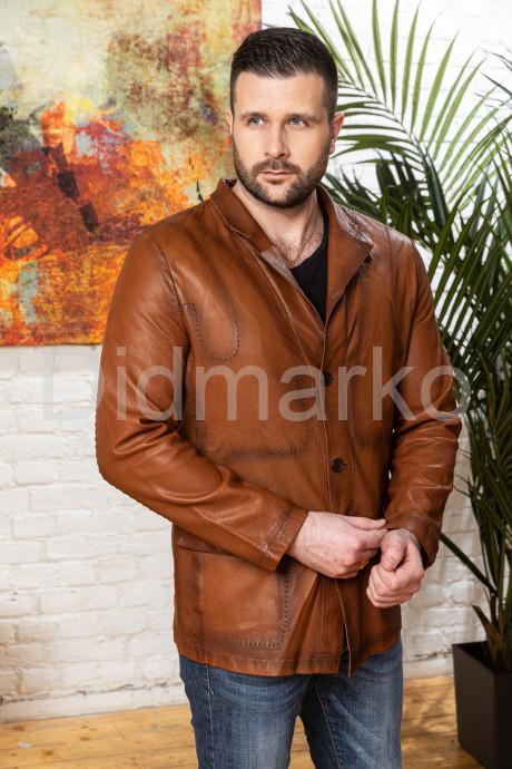 Купить Облегченный мужской кожаный жакет для мужчин в Москве и Санкт-Петербурге