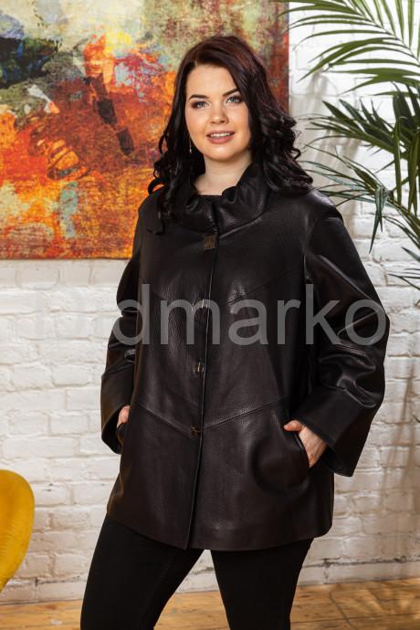 Купить Удлиненная женская кожаная куртка чернильного цвета в Москве и Санкт-Петербурге