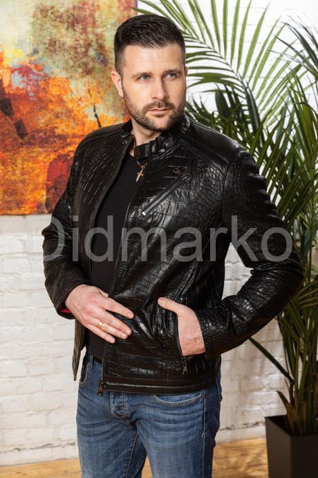 Купить Мужская кожаная куртка под кроку в Москве и Санкт-Петербурге