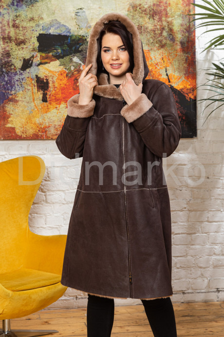 Купить Европейская дубленка коричневого цвета в Москве и Санкт-Петербурге