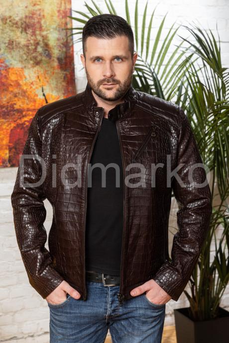 Купить Мужская кожаная куртка коричневого цвета в Москве и Санкт-Петербурге