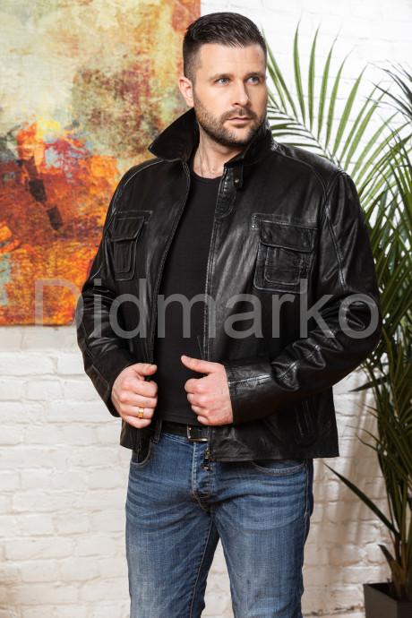 Купить Стильная мужская короткая кожаная куртка в Москве и Санкт-Петербурге