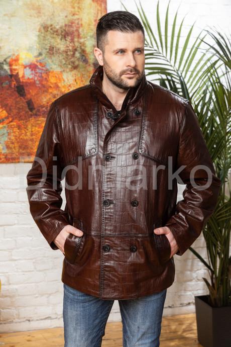 Купить Мужская кожаная куртка больших размеров кроко в Москве и Санкт-Петербурге