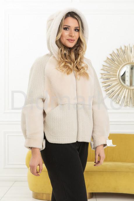 Купить Нежная куртка с вязаными вставками в Москве и Санкт-Петербурге