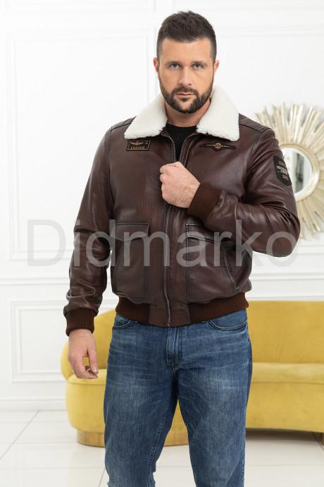Купить Демисезонная кожаная куртка на резинке в Москве и Санкт-Петербурге