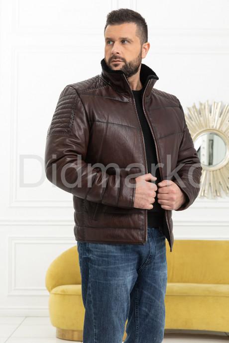 Купить Утепленная короткая мужская кожаная куртка в Москве и Санкт-Петербурге