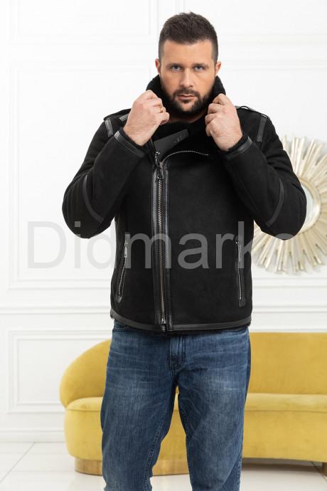 Купить Короткая мужская дубленка из замши в Москве и Санкт-Петербурге