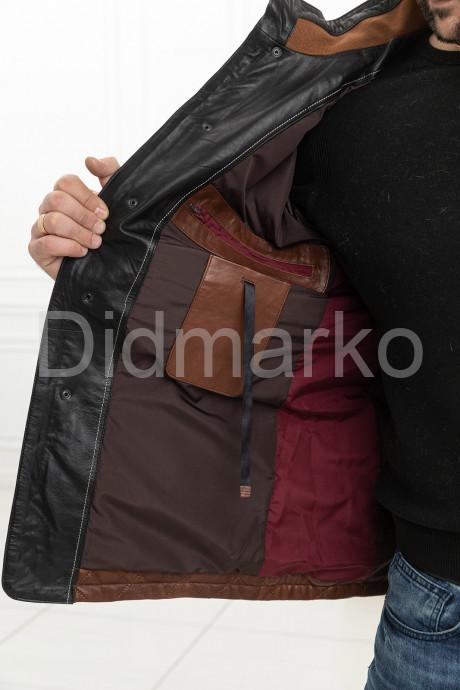 Стеганая кожаная куртка