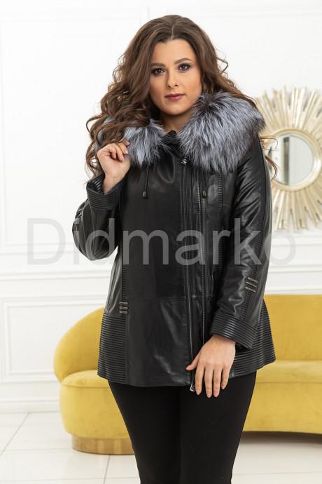 Купить Демисезонная кожаная куртка с мехом чернобурки в Москве и Санкт-Петербурге