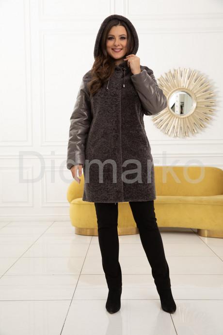 Комбинированное пальто с мехом астраган - хит продаж