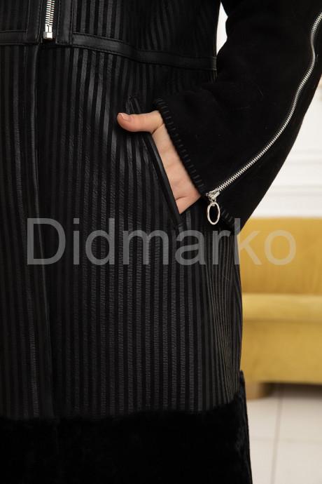 Элегантная расклешенная дубленка