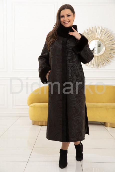 Купить Длинная двусторонняя дубленка больших размеров в Москве и Санкт-Петербурге