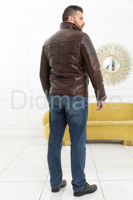 Короткая мужская дубленка