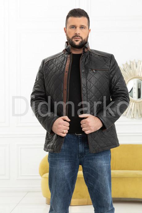 Купить Мужская стеганая кожаная куртка в Москве и Санкт-Петербурге