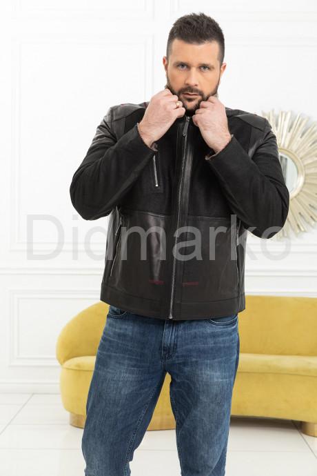 Комбинированная мужская дубленка