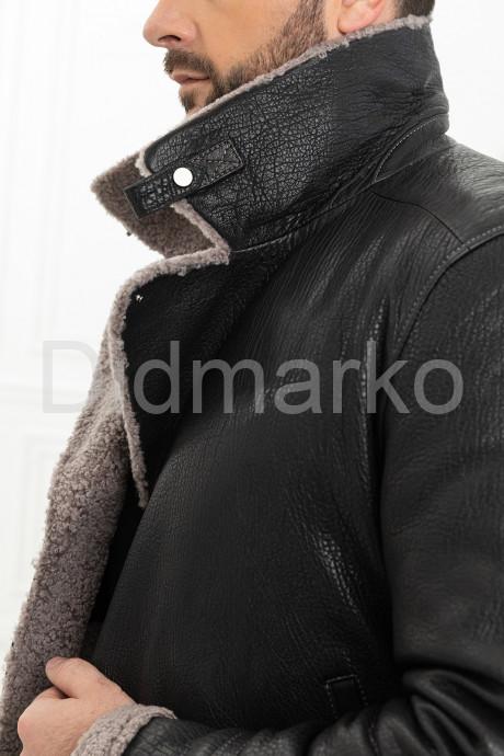 Мужская косуха с мехом керли