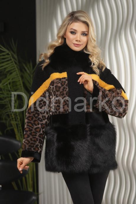 Купить Короткая дубленка с принтом леопарда в Москве и Санкт-Петербурге
