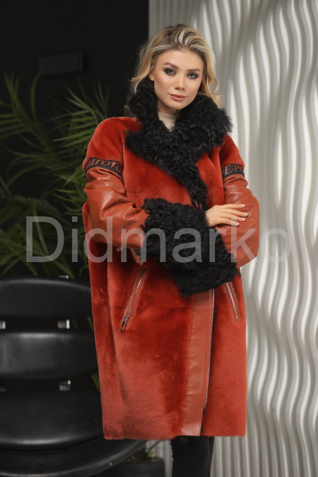 Купить Яркая дубленка из Итальянской коллекции в Москве и Санкт-Петербурге