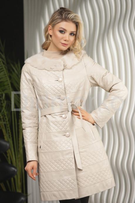 Купить Стеганое пальто с мехом норки в Москве и Санкт-Петербурге