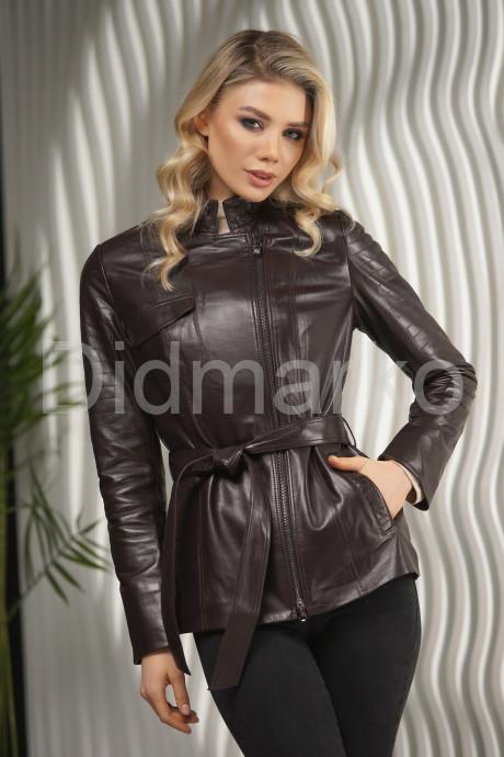 Купить Приталенная кожаная куртка-косуха в Москве и Санкт-Петербурге