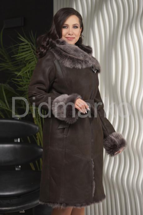 Купить Зима 2021-22 Дубленка с не стриженным мехом тоскана в Москве и Санкт-Петербурге